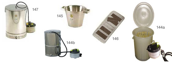 Steam heated plastic barrel, wax melter, bucket, wax mould and melter